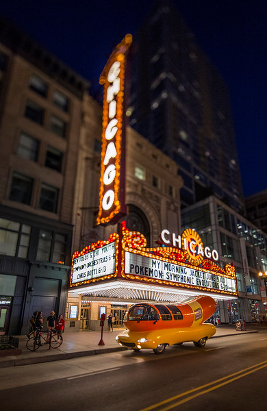 The Wienermobile at The Chicago Theater<br /> May 2015<br /> Photo © Daniel Driensky 2015