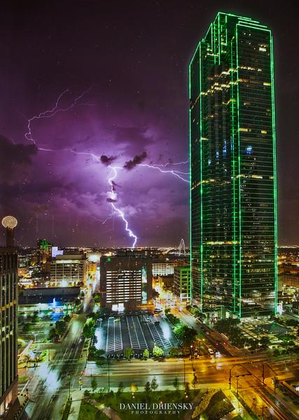 'Last Night's Storm in Dallas, 5/30/12'<br /> Bank of America Plaza prominently featured<br /> Photo © Daniel Driensky 2012