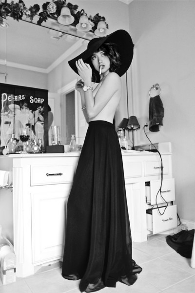 'Woman in Hat Smoking a Cigarette'<br /> Model: Erica<br /> Daniel Driensky © 2010