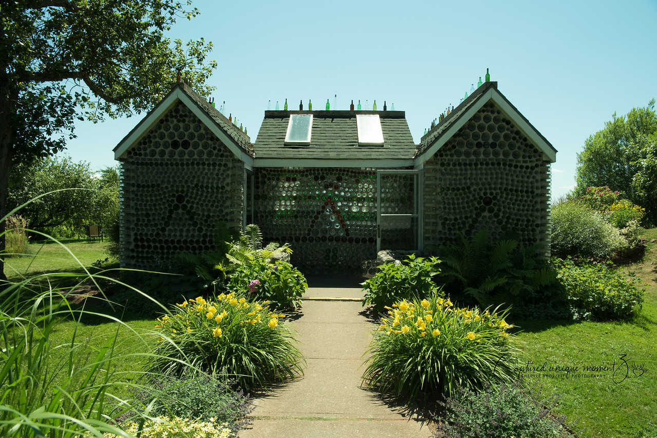Glass Bottle house at PEI
