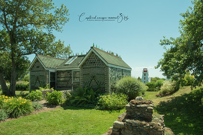 Glass bottle house and lighthouse at PEI