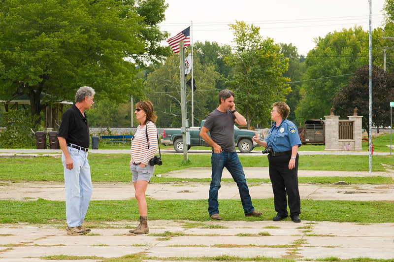 Mike Wolfe Of American Pickers Pauses To Visit With COI Patricia Rick