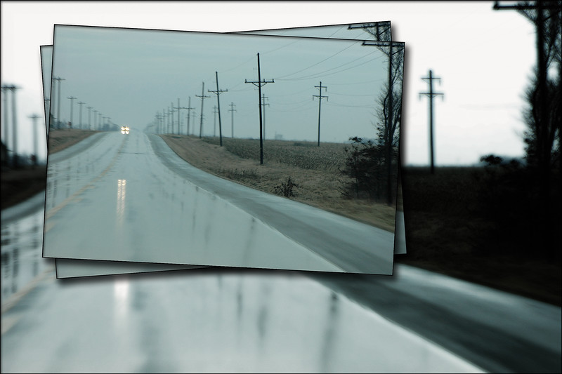 Rainy Day Road Collage Part 1