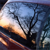 """""""SUNSET REFLECTION - Feb. 25th, 2005""""<br /> I'd just returned home and after grabbing an arm load of groceries then shutting the van door... <br /> WOW... I couldn't believe the picture I saw on my van window. :) <br /> Dropped the groceries in favor of the D70 real quick!"""