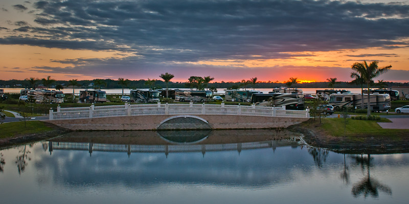 Panarama Sunset At Myakka River Motorcoach Resort