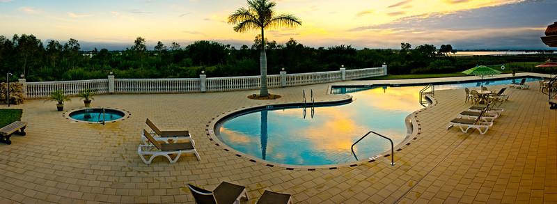 Myakka River Motorcoach Resort Pool & Hot Tub Panorama