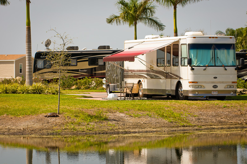 Lake View Site ~ Myakka River Motorcoach Resort