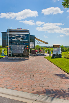 5 star; CoBear; Colbert; Englewood; Florida; Lew Thompson; Myakka River; Myakka River Motorcoach Resort; Port Charlotte; RV; Velma Thompson; campground; casual; luxery; motorcoach; palm tree; resort; river; river front; river view; sitet