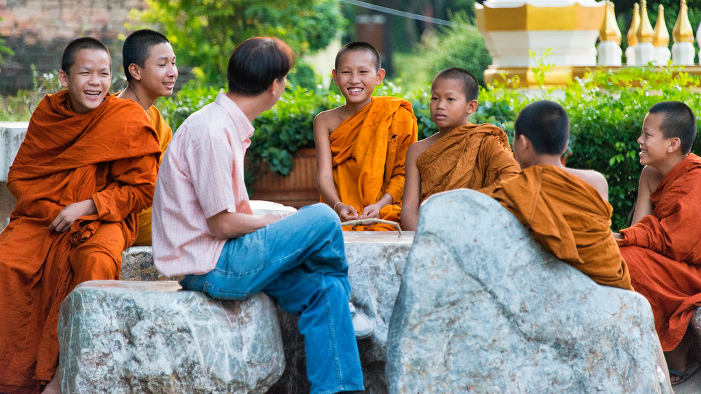 Young Buddhist Monks, Wat Phra That Bang Phuan, Nong Khai, Thailand - 2015