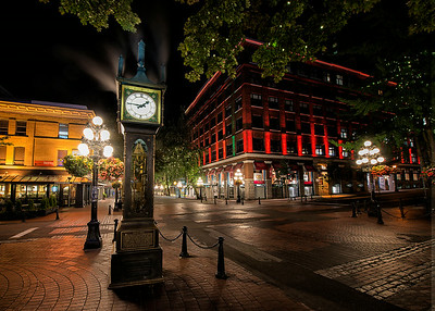 Steam Clock in Gastown.  Vancouver, Canada - 2014