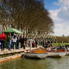 Visitors enjoy a spring day around Versailles