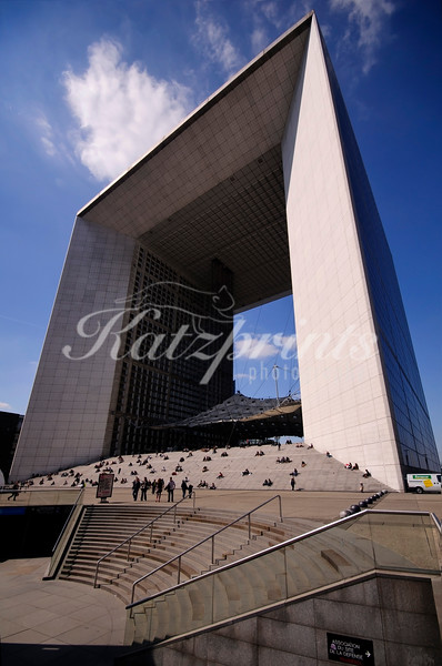 The Grande Arche is a famous sight of La Défense in Paris
