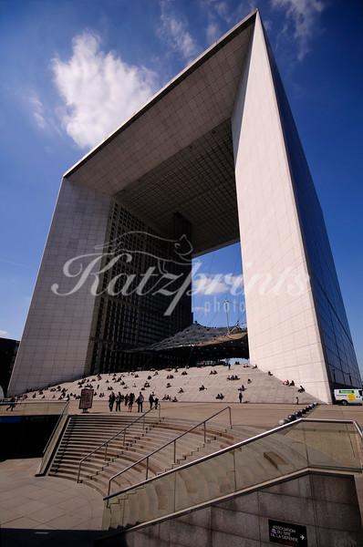 The Grande Arche is a famous sight of La Défense in Paris
