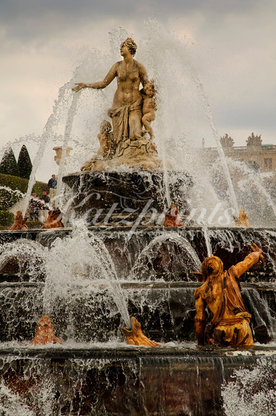The Latona fountain at Château de Versailles