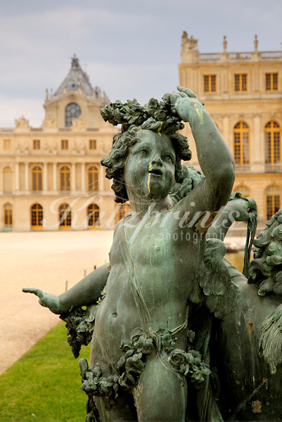Sculpture near the Water Parterres at Versailles