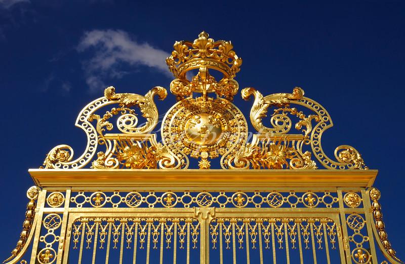 Detail of a gate at the Château de Versailles