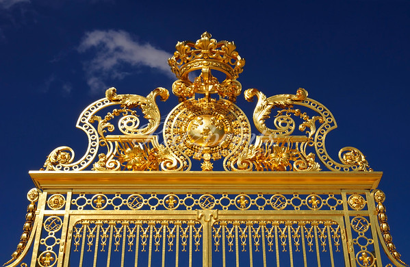 Detail of a gate at the Château de Versailles