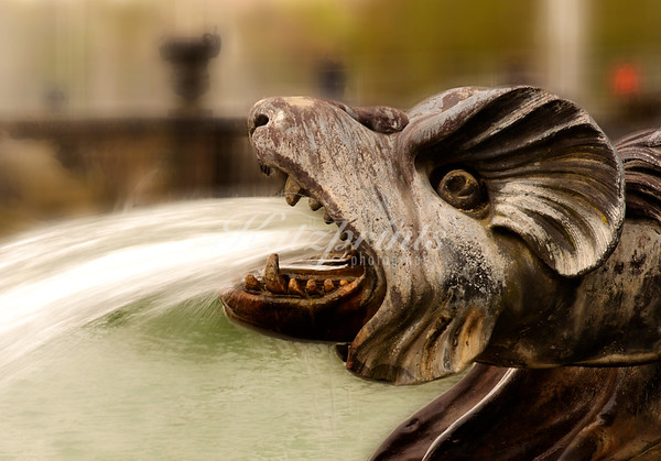 Detail of the Neptune fountain at Château de Versaille