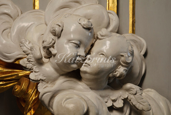 Detail of the Rococo pulpit in Dresden's Hofkirche