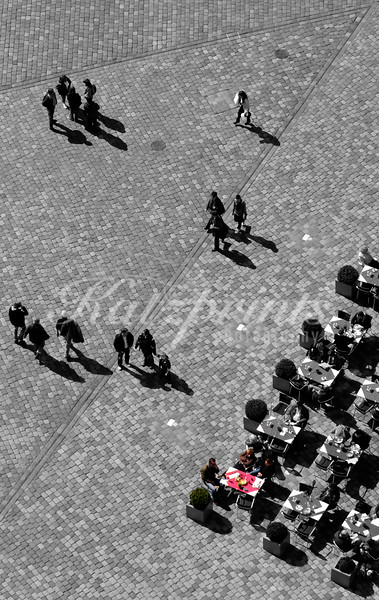 Aerial view of a Dresden Cafe