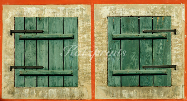 Wooden shutters in Dresden