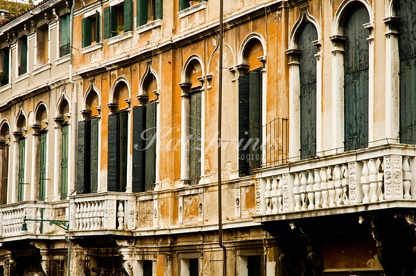 Venetian windows and balconies