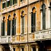 Venetian windows and balconies