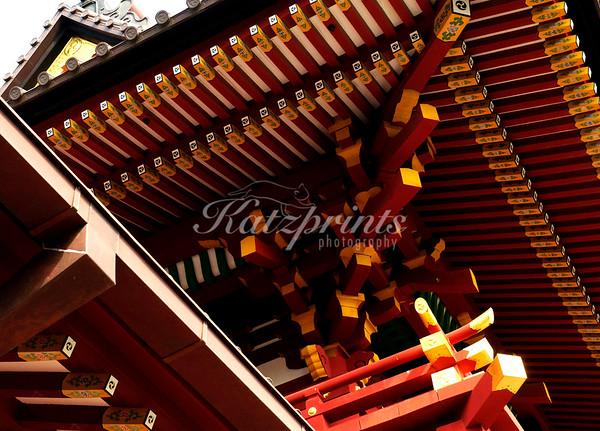 Roof detail at the Tsurugaoka Hachiman-gū shrine in Kamakura