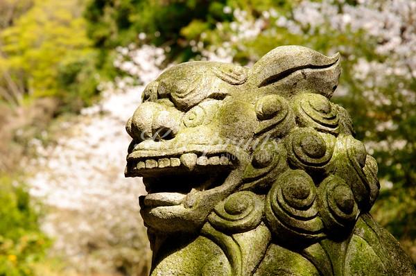 Stone sculpture at the Kenchō-ji in Kamakura
