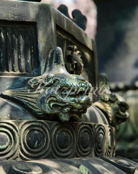 Lantern detail at Ueno Tōshō-gū shrine in Tokyo