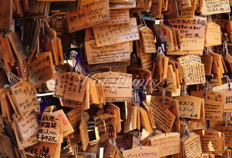 Ema boards at Uneo Tōshō-gū shrine in Tokyo
