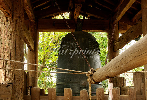 The great bell of Engaku-ji temple is a national treasure; it was cast in 1301