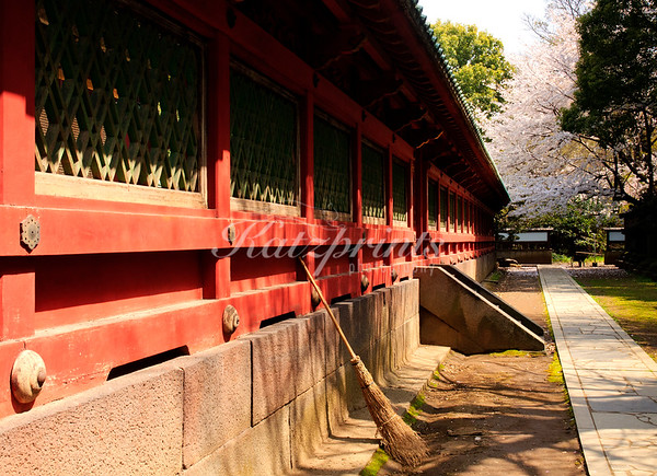 Forgotten broom at Ueno Tōshō-gū shrine in Tokyo