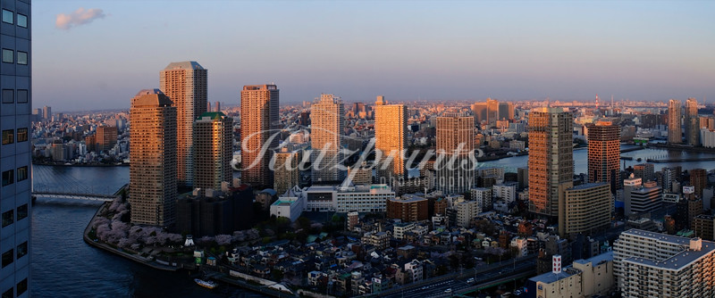 Tokyo at sunset (panorama from two shots)
