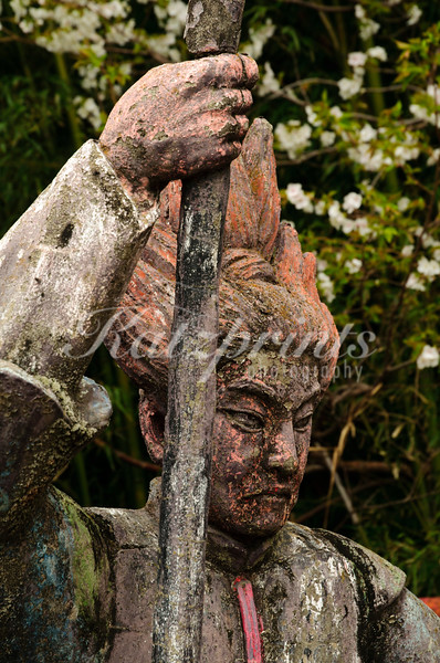 Close-up of a sculpture found behind Atami Castle