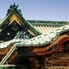 Detail of the gate to the Ueno Tōshō-gū shrine complex in Tokyo. The shrine, established in 1627, is currently undergoing repair work which is scheduled to be completed in 2013.