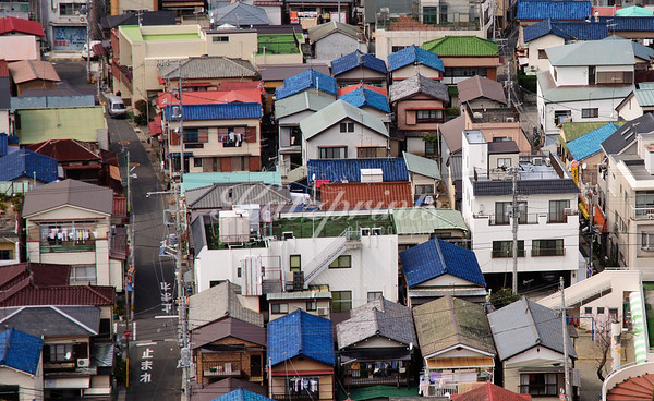 Colorful roofs in Ajiro