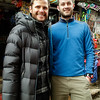 In Namche Bazaar we met Irish climber John burke, he and his team summited Everest on May 17th. <br />  John (left), with Jack from our team
