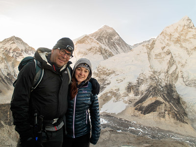 Trevor & Jamie on Kala Patthar in front of Everest