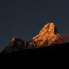 Ama Dablam at sunset from our lodge in Debouche