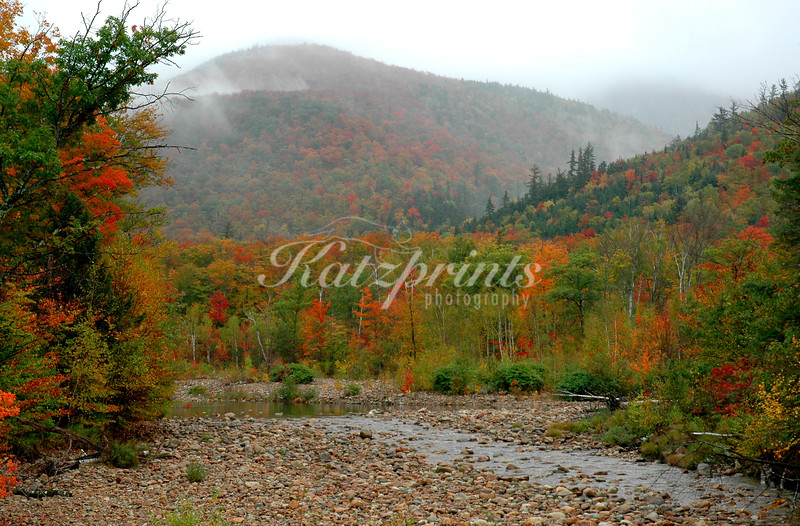 Autumn scene along the Kancamagus Highway in New Hampshire