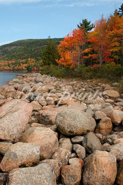 Bolders at Jordan Pond, Acadia National Park, Maine