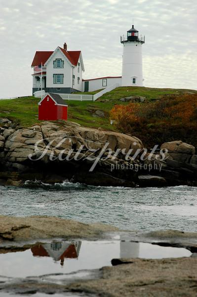 """Cappe Neddick Light Station, also called """"Nubble Light"""", in York, Maine"""