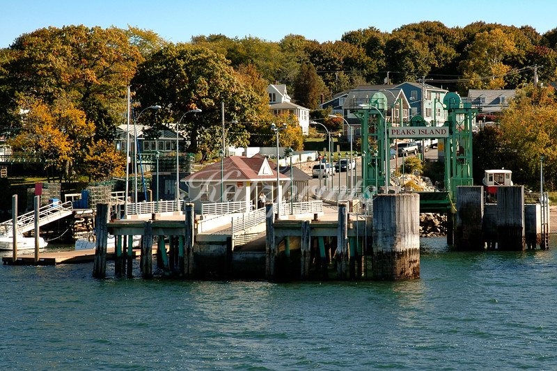 Arriving on Peaks Island onboard a ferry from Portland, Maine