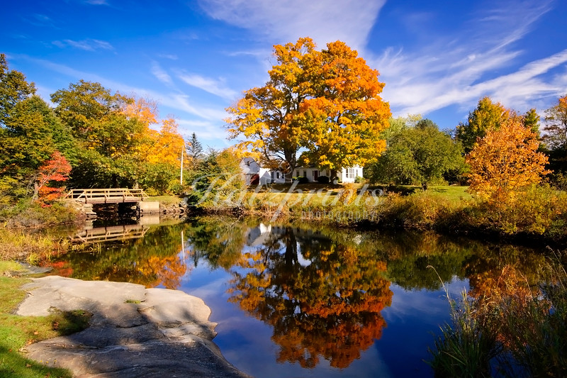 Autumn reflection Maine-style