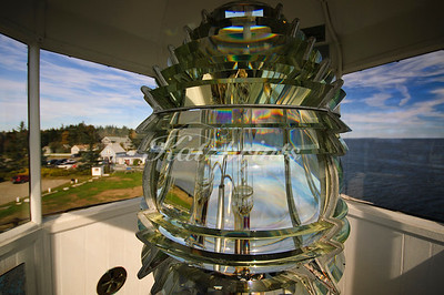Fresnel lens of the Pemaquid Point Light in Maine