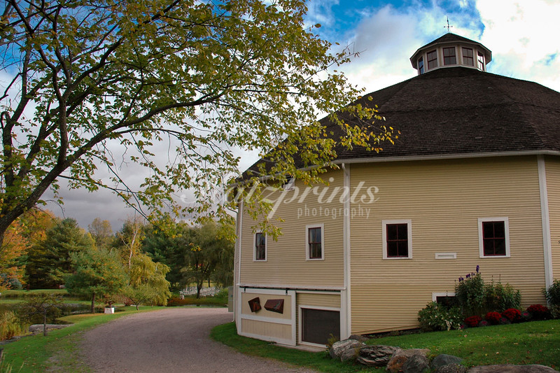 Round barn in Waitsfield, Vermont