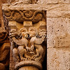 A detail from the 12th century Sant Vicenç church in Besalú, Spain.
