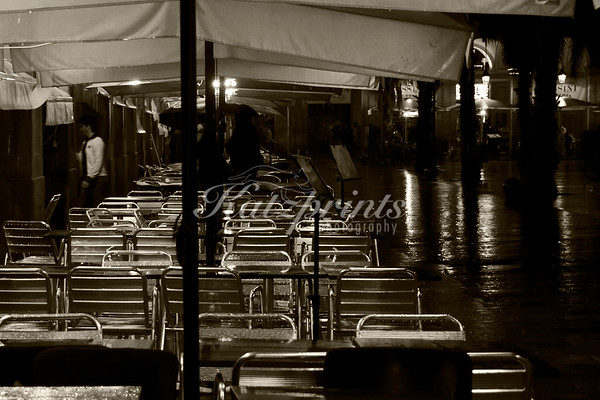 A rainy evening in Barcelona