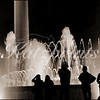 "People watch the displays of Carles Buigas' ""Font màgica de Montjuïc"" (magic fountain) in Barcelona, Spain."